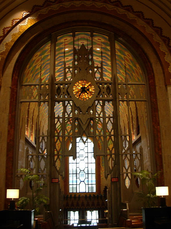 Guardian Building  monel screen with Tiffany clock