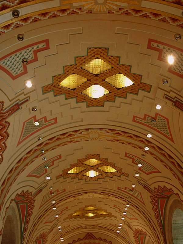 Guardian Building ceiling