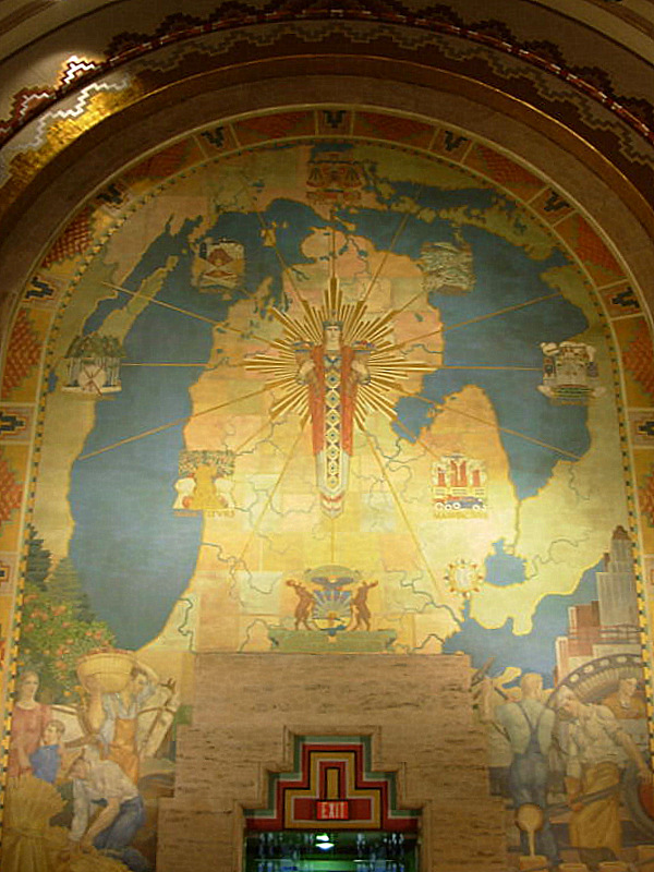 Guardian Building Michigan mural