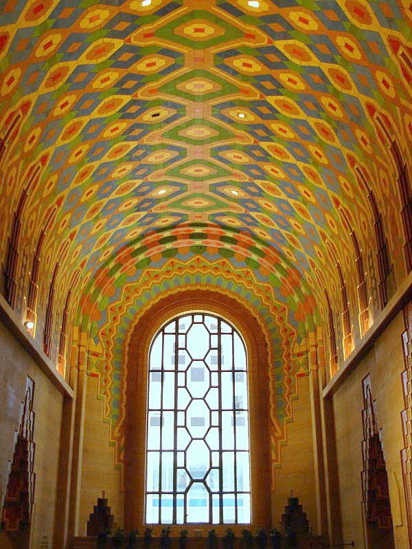 Guardian Building barrel vault tile ceiling