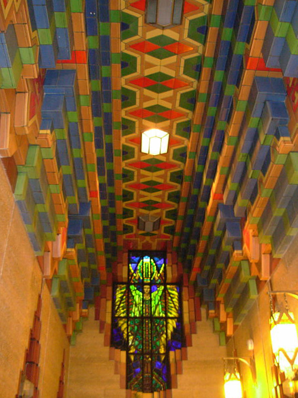 Guardian Building elevator alcove ceiling detail