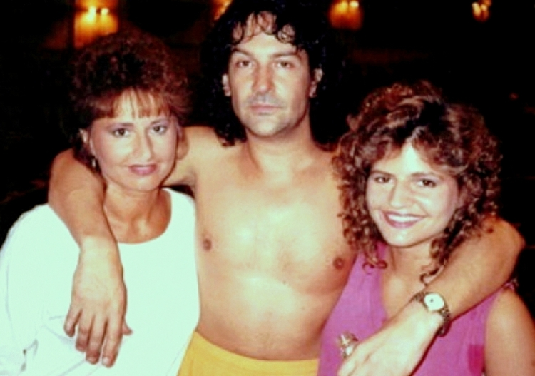 Billy Squier, me and Mom