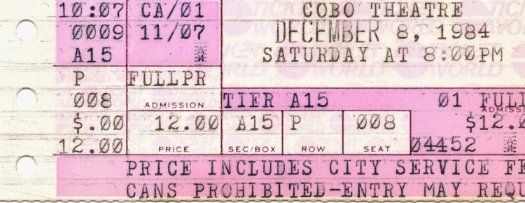 kiss cobo ticket