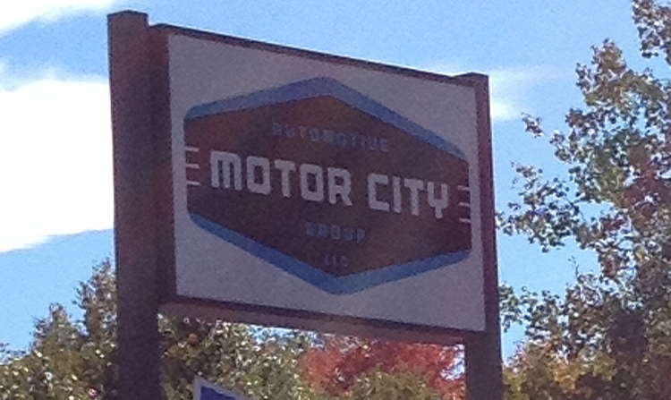 Motor City Auto sign