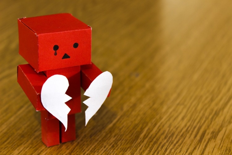 Broken hearted robot