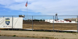 The Flag Pole still intact at the former site of Tiger Stadium, and Brooks Lumber still in business on Trumbull Avenue!