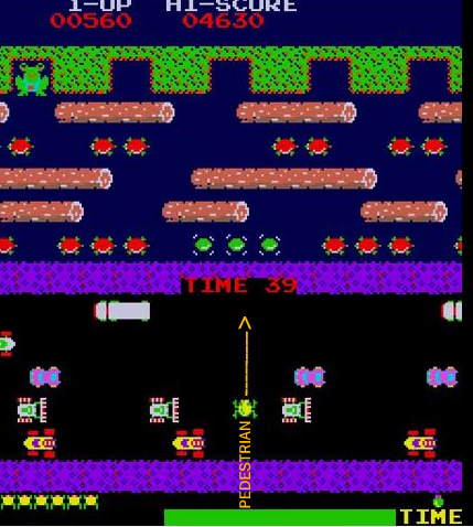 Frogger screen