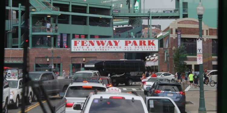 Traffic at Fenway Park