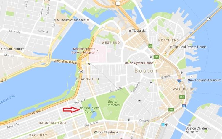Boston Public Garden map