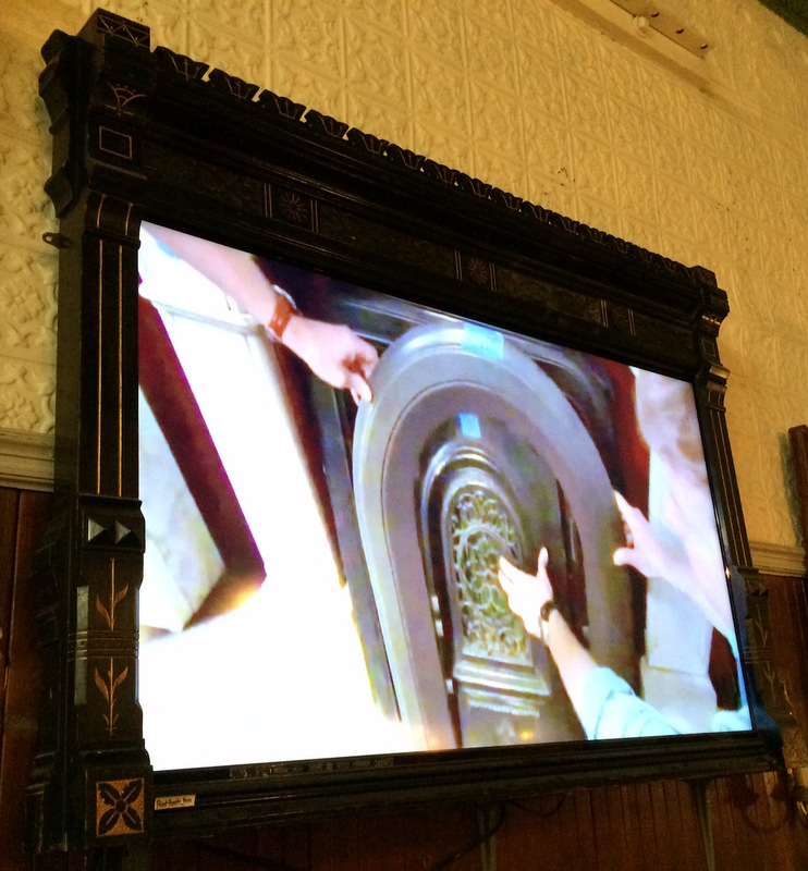 TV in a Victorian mantle piece