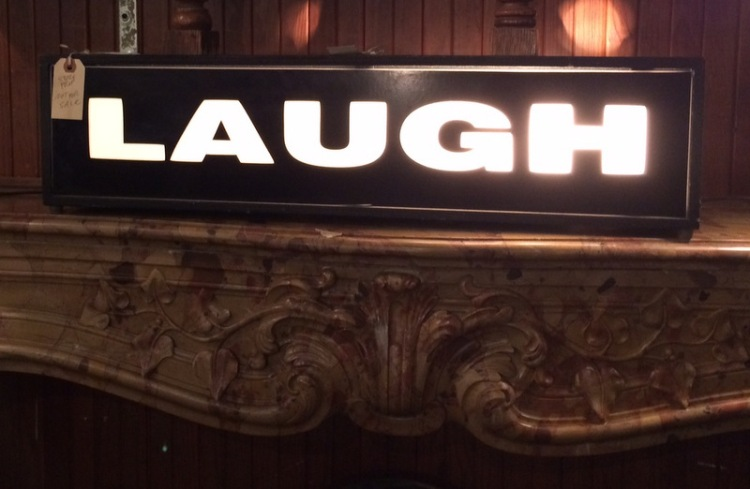 TV audience laugh sign