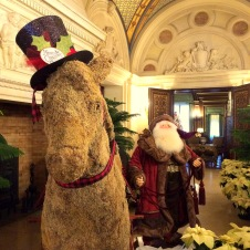 Why not have a life-sized Santa and horse? Plenty of room!