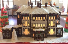 Local bakers created Gingerbread houses of some of the mansions. Here is The Breakers.